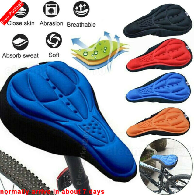 Silicone Wider Gel Extra Soft Bicycle Bike Saddle Cushion Seat Cover Pad Comfort