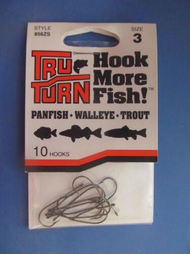 NEW walleye trout panfish 60 Tru Turn Style 856ZS Hooks Size 3 Hooks