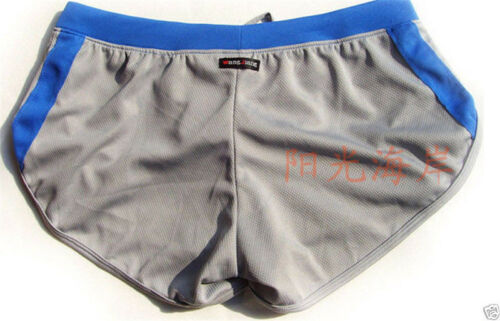 Mens Underwear Sport Running Pants GYM Boxer Briefs Trunk Shorts 5color S~XL