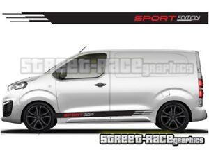 e59e48dd3e Peugeot Expert van 017 side racing stripes graphics stickers vinyl ...