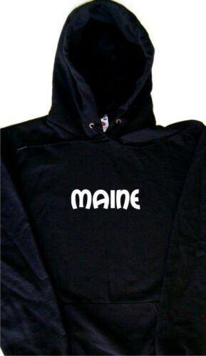 Sweat à capuche texte Maine