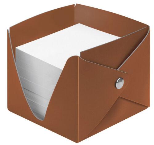 VELOFLEX Zettelbox regeneriertes Leder m.1000 Blatt Papier Farbe Marone 5267261