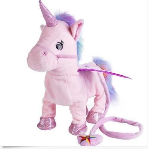 Christmas Walking Talking Unicorn Plush Toy Talk Singing Songs Xmas Gift Kids UC