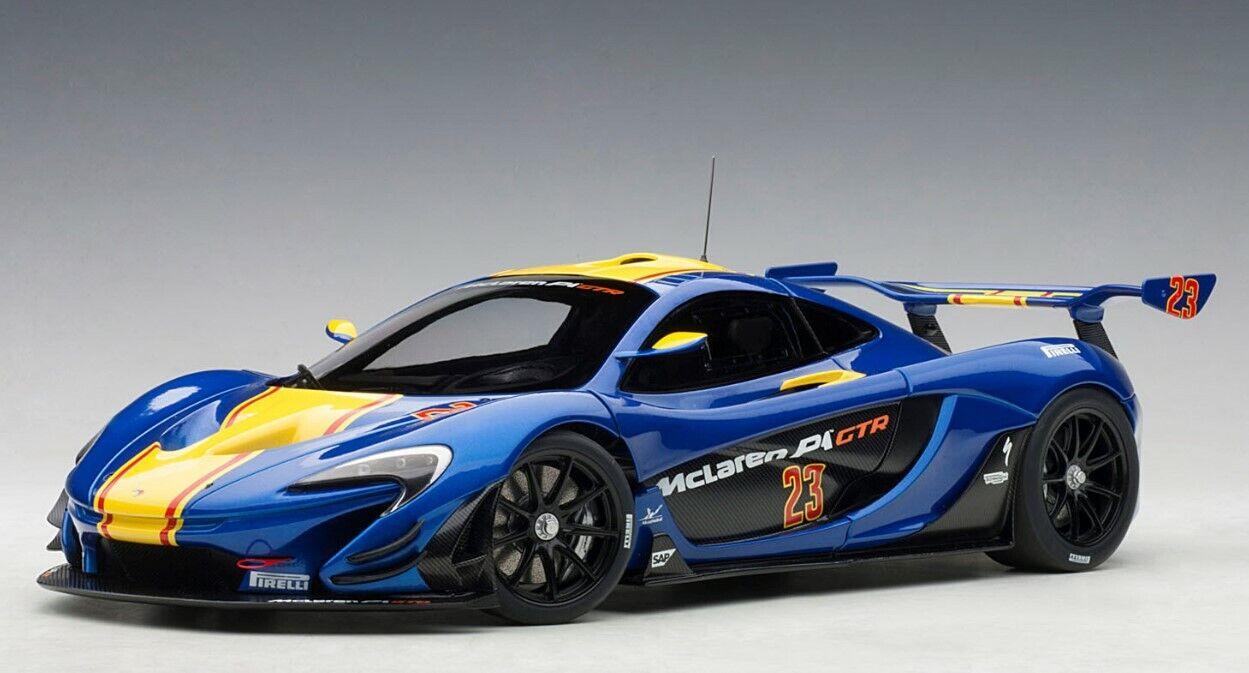 8542 AUTOart 1 18 McLaren P1 GTR (blauw Geel)
