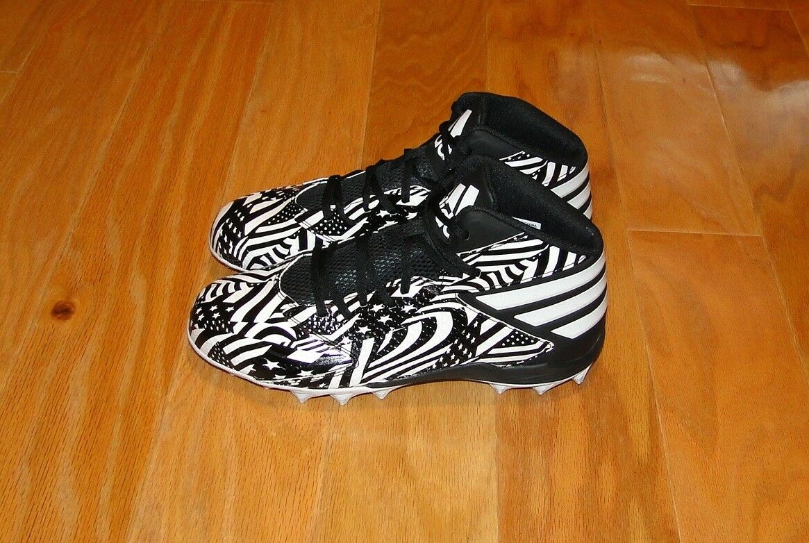 ade8c7c1cfade ... Adidas Football Cleats Size 8.5 Black White Stars Stripes Stripes  Stripes Freak MD Q16091 8f4473 ...