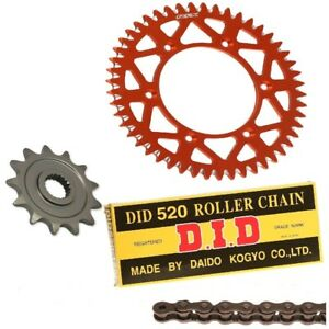 KTM-SX-125-2013-2014-2015-DID-CHAIN-amp-RFX-FRONT-amp-REAR-SPROCKET-KIT-COMBO-13-50T