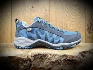 ecadf4a4c8 Details about MERRELL // Lulea // Womens Blue Waterproof Hiking Trainers  Shoes // NEW