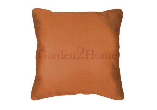 Throw Pillows Sunbrella Canvas Tuscan 5417 Set//2 Solid Orange Square Acrylic