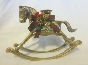 Vintage-Brass-Rocking-Horse-Candle-Holder-Mid-Century-Frederick-Atkins