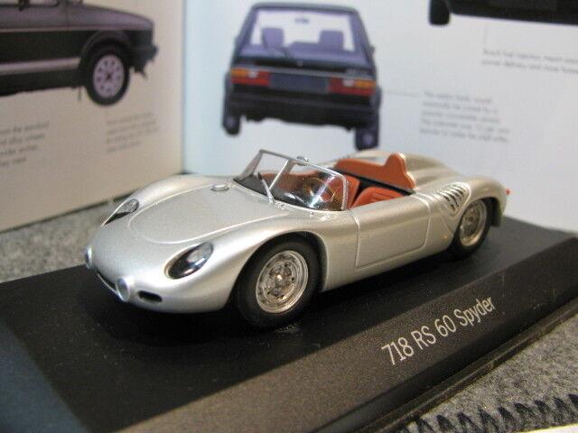 Porsche 718 rs 1   43 minichamps 60 spyder druckguss