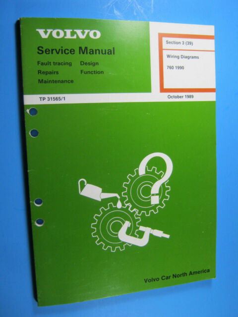 Volvo Service Manual Wiring Diagrams 760 1990