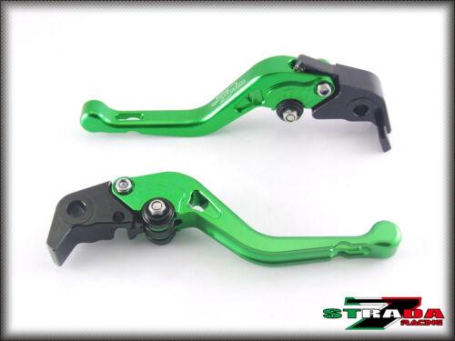 Strada 7 CNC Shorty Adjustable Levers Kawasaki Z1000 2007-2014 Green