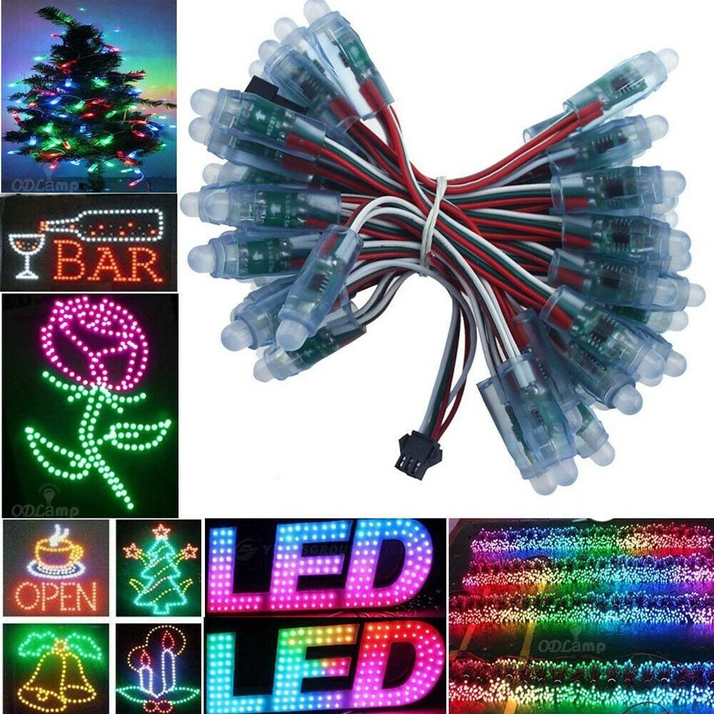 Wholesale Addressable WS2811 LED Pixel Digital Diffuse 12mm RGB Light IP68 5V12V