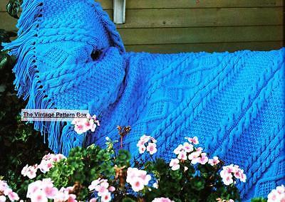 ARAN / THROW - bulky or 12ply - COPY  Afghan knitting pattern