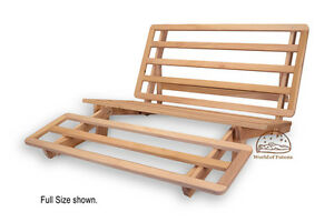 new tri fold lounger bed wood futon frame twin size ebay