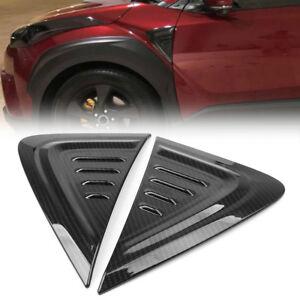 Carbon-Fiber-Style-Side-Air-Vent-Fender-Cover-Trim-For-Toyota-C-HR-CHR-2016-2018