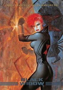 BLACK-WIDOW-1993-Marvel-Masterpieces-BASE-Trading-Card-67