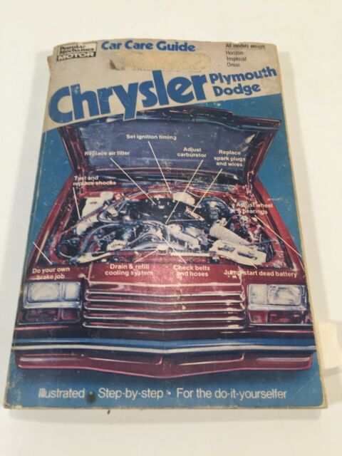 1981 Popular Mechanics Chrysler Plymouth Dodge Car Care ...