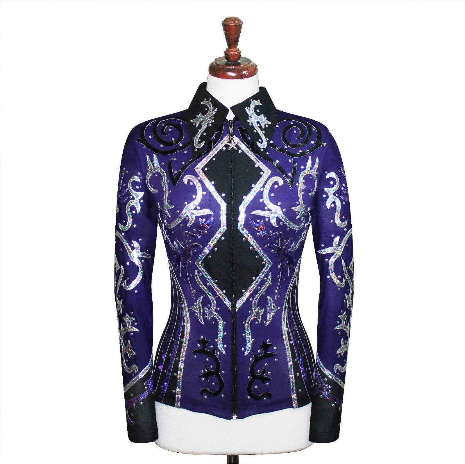 4X-Grand Spectacle plaisir Horsehomengrenerip Show Veste Chemise Rodeo Queen Rail