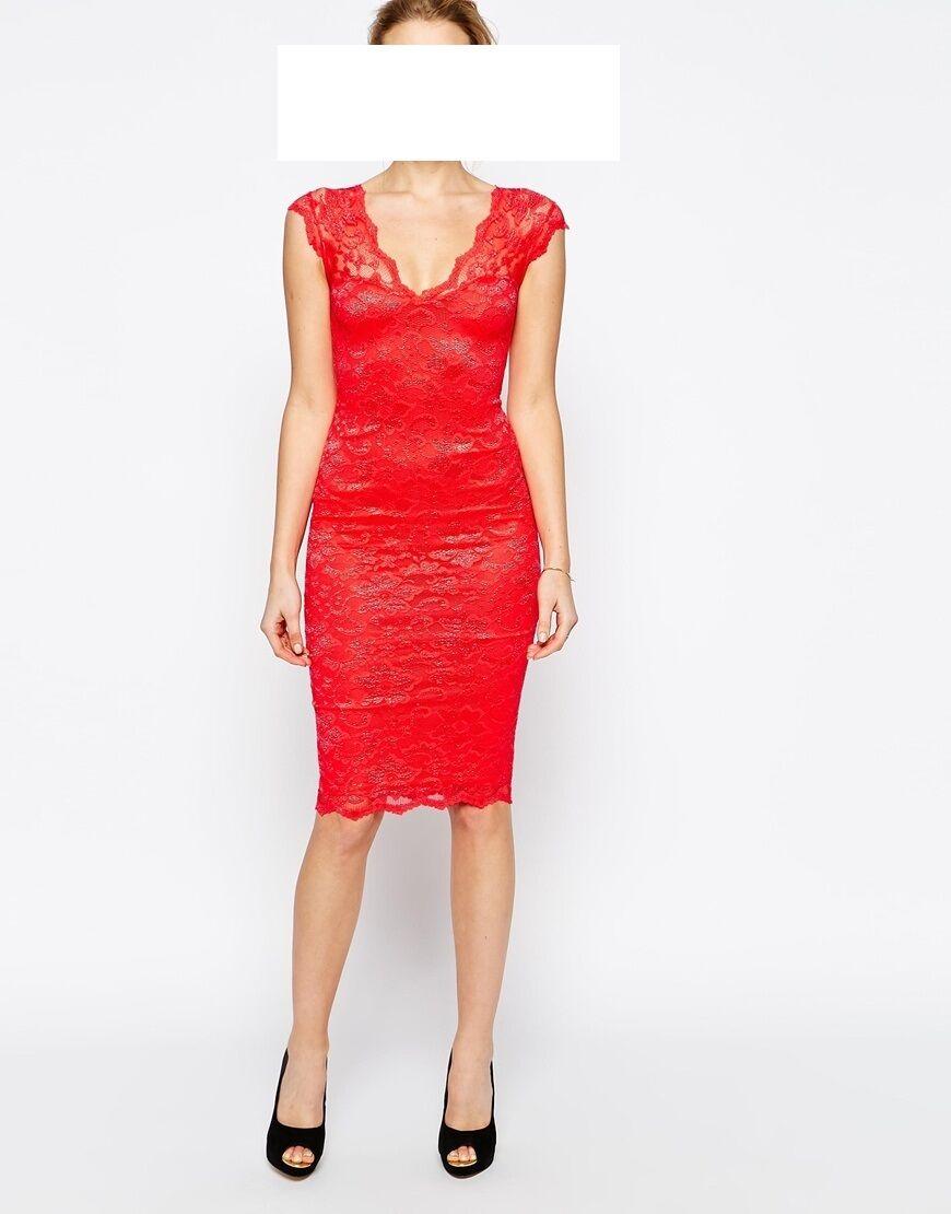 Designer Spitzen Kleid Jessica Whright Größe 40  NEU