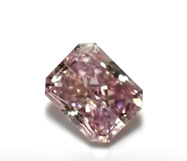 0,50 Ct Natürlich Loser Kostüm Lila Rosa Farbe Diamant Gia Zertifiziert