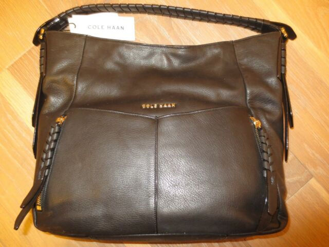 NWT Cole Haan Felicity Leather Large Hobo Black Womans Purse