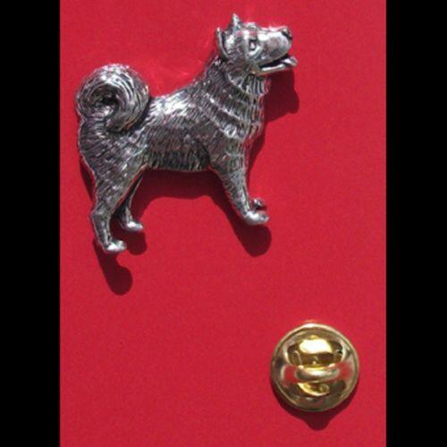 Husky Pin Badge Tie Pin Lapel Badge English Pewter Dog XTSBPD16
