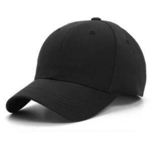 Black 6 Panel Baseball Cap One Size Only 09ea0bc42b5
