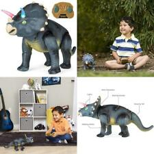 Kids Walking Dinosaur Triceratops 14.5 Inches Remote Control with Shaking Head