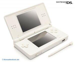 Nintendo-DS-Konsole-Lite-weiss-Stromkabel