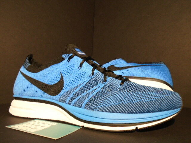 2012 Nike FLYKNIT TRAINER+ RACER ONE blueE GLOW TINT WHITE BLACK 532984-440 DS 11