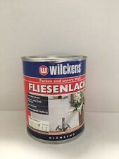 (8,60€/L)Wilckens Fliesenlack  Lackfarbe weiss glänzend Fliesenfarbe 750ml