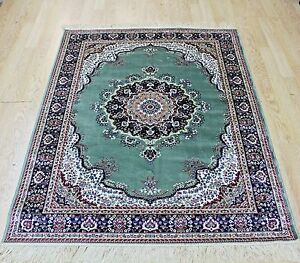 Traditional-Rug-Green-Silk-Like-Machine-Washable-Living-Room-BedRoom-Carpet-Rugs