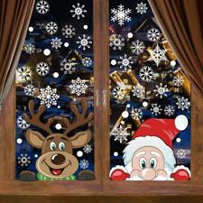 2 Rudolph Bumble textured fur Christmas Window Clings Holiday Decorations