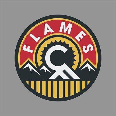Calgary Flames 3 Nhl Team Logo Vinyl Decal Sticker Car Window Wall Cornhole