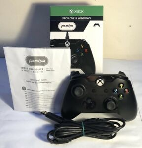 Details about Wired Xbox One Controller - PDP Black Edition Boxed (USED)