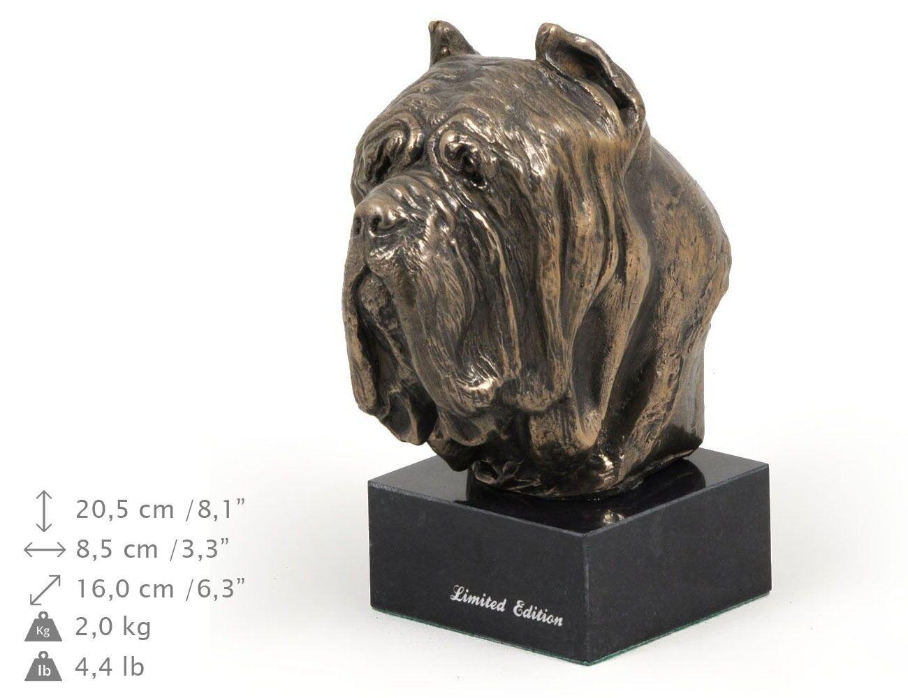 Neapolitan Mastiff  dog figurine on the marble base, high quality Art Dog
