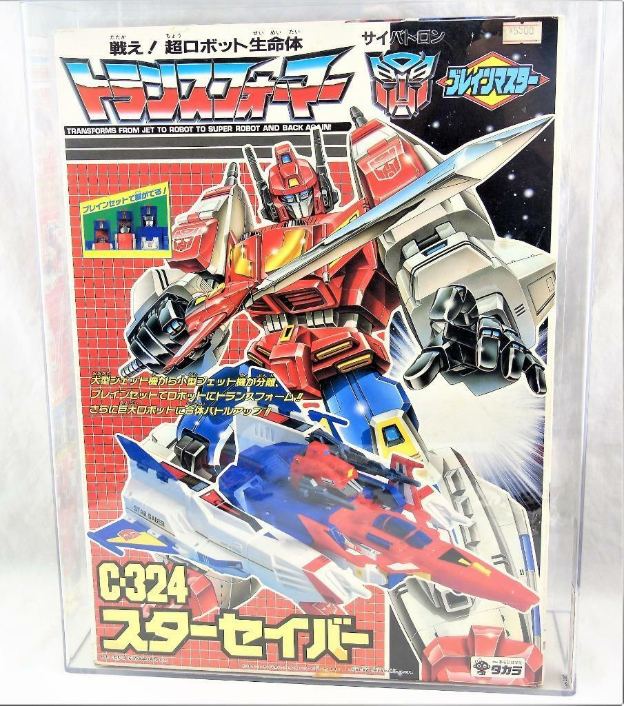 Transformers Original G1 1989 Figura de Acción autoridad 80 Takara Brainmaster C-324 Star Saber Menta en Caja Sellada