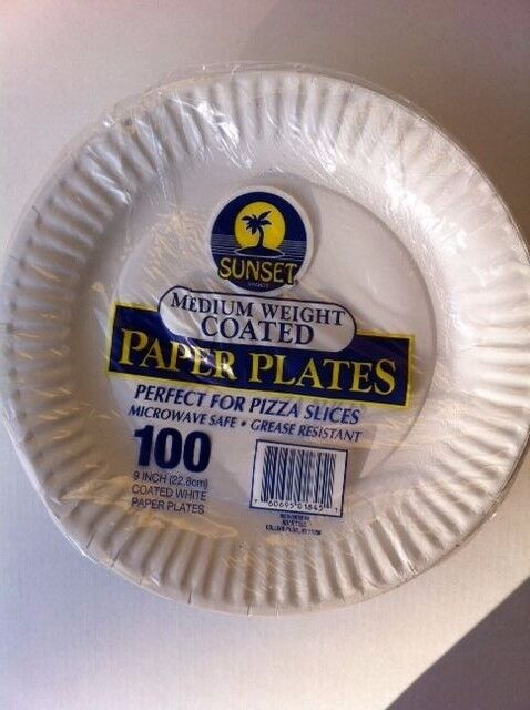 Sunset Coated Paper Plates 9 Grease Resistant Microwave Safe 100 Count For Sale Online