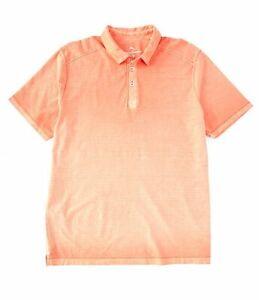 Tommy-Bahama-Men-s-SZ-XL-Cirrus-Coast-Polo-Shirt-Mango-Tango-MSRP-100