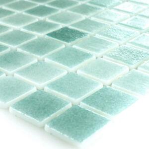 Outdoor Schwimmbad Pool Glas Mosaik Fliesen Turkis Mix Walk In