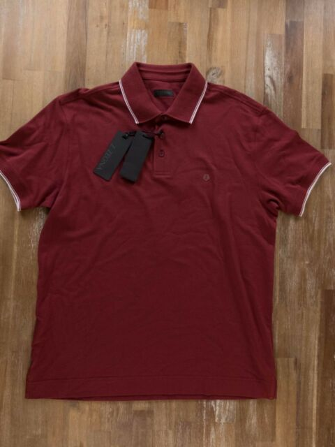 43336c25 Z Zegna Polo Shirt Burgundy Gents Authentic Size Large