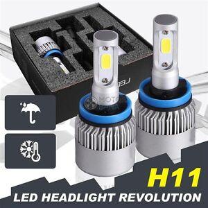 2x H11 H9 160W LED Headlight Head Light Kit Low Beam Bulb 16000lm HID Replacemen