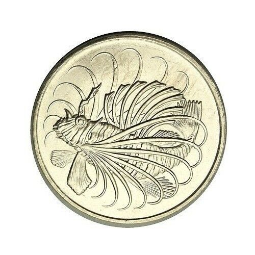 elf Singapore 50 Cents 1976  Lionfish  Fish