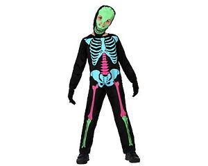 GUIRCA Costume scheletro donna halloween carnevale adulto fluo 110 80570