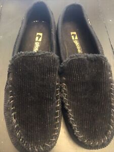 *Black Globe Castro Slip-On Shoes Size 13 Corduroy Slippers