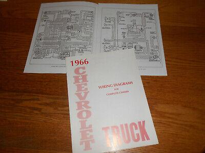 1966 chevrolet truck wiring diagram manual / '66 chevy diagrams  ebay