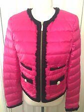 Bnwt JUICY COUTURE donna rosa piumino zip inverno giacca taglia S rrp £ 205