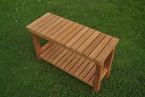 Busselton-Extra-Large-Shower-Bath-Pool-Bench-W-Shelf-Grade-A-Teak-Wood-Outdoor