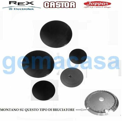 REX ELECTROLUX Serie piattelli smaltati 5 fuochi 2 grandi 2  medi